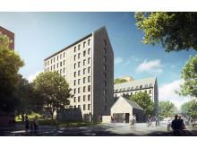 Förslag studentbostäder Teknikringen KTH Campus