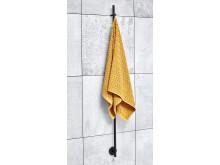Rod svart lång handduk