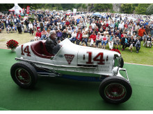Johnny Carlssons historiska racerbil, en Miller.