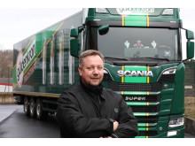 Marco Mann fährt den neuen Scania V8 bei Güldenkron