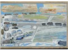 Vinterfält Mysing. Målning av Håkan Albeman