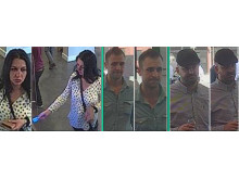 The three people police would like to speak to in connection with the theft of money