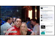 Example Facebook post using Intellitix Live Click Photo Station...