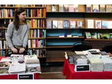 Bokbord på poesimässan 2015