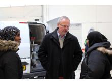 Skanderborgs borgmester i dialog med flygtninge
