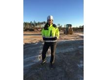 Charlotte Murath är första kvinna inom Logistic Contractors med rollen som platschef.
