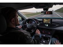 Førerløs Audi A7 fra cockpittet - på vej til Las Vegas og CES 2015
