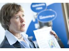 Forskaren Lena Elfman pratade hästallergener med politikerna