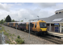 Two Class 172/0s on a test run through Kenilworth station – 28 April 2019