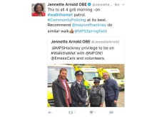 Tweet by Jennette Arnold AM