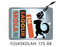 Logga för utställningen En sagolik skola - Folkskolan 175 år