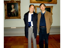 Mr.Fu Youxin och Shi Zhihong på museum