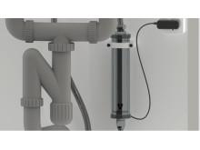 Watersprint, insats monterad under tvättställ