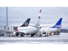 Parkerte fly ved Oslo Lufthavn