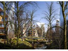 Utopia Arkitekters stadsplanevision för Nya Hovås