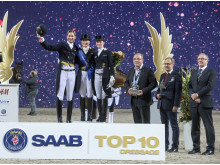 Saab Top 10 Dressage podium