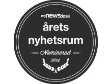 Logo Nominerad Årets Nyhetsrum 2014