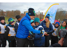 Svenska Skidförbundets projekt Alla på snö får besök av H.K.H. Prins Daniel