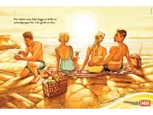 Mills majones sommerkampanje_solnedgang