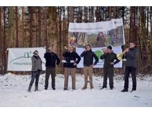 """Die Wermsdorfer Jagdhornbläser spielen zur Eröffnung des Aktionsjahres """"Waldgebiet des Jahres 2018"""""""