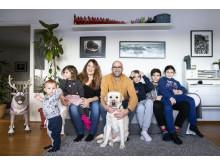 Eleonora Miola med familj