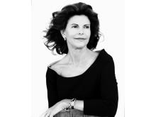 Porträttfoto på Drottning Silvia taget av fotografen Ewa-Marie Rundquist