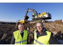 Byggstart för Swecons nya huvudkontor - Christer Söderberg och Håkan Pettersson