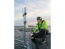 Montering av 5G antenne/utstyr:  Jørgen Skånø, Montør, Elektro Team