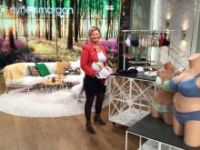 Förberedelser inför PXC Underwear BH-skola i TV4 Nyhetsmorgon