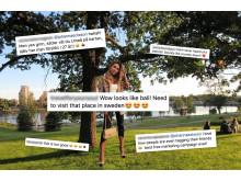 Flera influencers fejkade in sig på bilder i Umeå tidigare i veckan