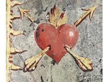 Drottning Kristinas delar till rustning med brinnande hjärtan 1651.