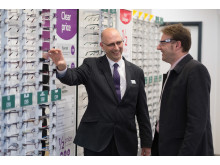 Local MP Derek Thomas officially opens new optical store in Helston