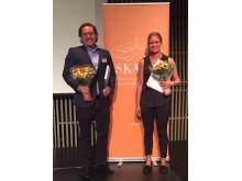 Martin Ryen och Evelina Vågesjö vann Uppsala läns SKAPA-priser