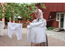 Tvätt på bakgården - på Vallby Friluftsmuseum
