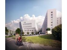 Södersjukhuset_fasad sydväst