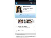 Screenshot LinkedIn Android Profile