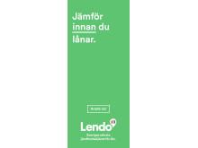 Jämför innan du lånar, med Lendo, Sveriges största jämförelsetjänst för lån.
