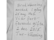 brev till brudklänning