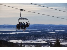 Sittlift med utsikt Oslo Vinterpark