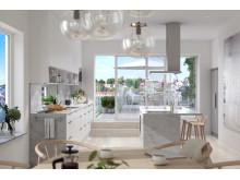 SeaU Helsingborg: kök med terrass