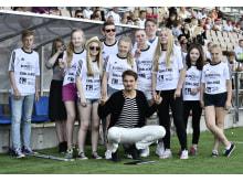 Sariolan koulun välituntiliikuttajat vastaanottivat Vuoden #MunLiike-koulun palkinnon