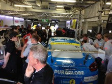 Prep room before race.