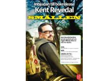 Inbjudan till release av Kent Revedals bok Smällen