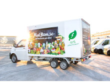MatHems elbil med 100 % gröna leveranser