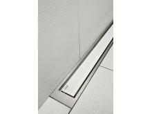 Golvränna / Duschränna - unidrain® HighLine Panel - Vitt glas