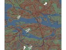 Skidspår och skridskobanor i Stockholm