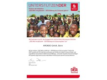 UnterstützenDER für mehr Bildung