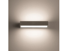 Concrete wall uplight and downlight
