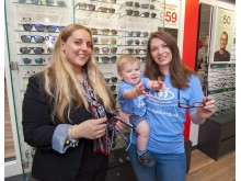 Young eye cancer survivors honoured by Vision Express at charity's silver celebrations