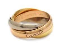 Moderna 14/6, Nr: 14, CARTIER, ring, Trinity, 18K trefärgat guld